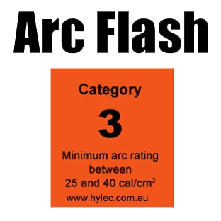 Arc Flash HRC 3 Category  Minimum PPE rating of 25 cal