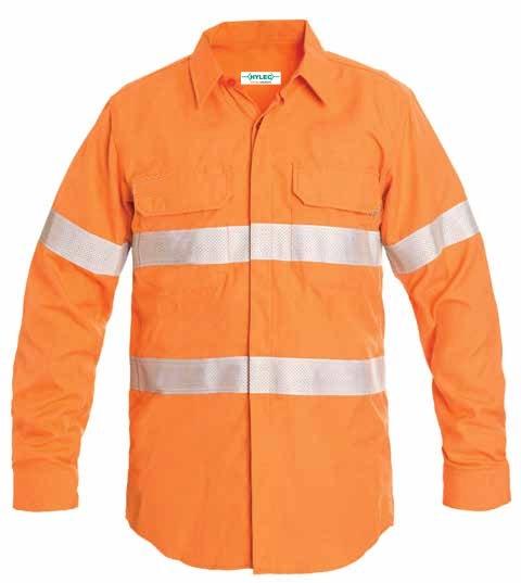 HRC2 Ultralight Shirt 9 Cal Button up - Orange