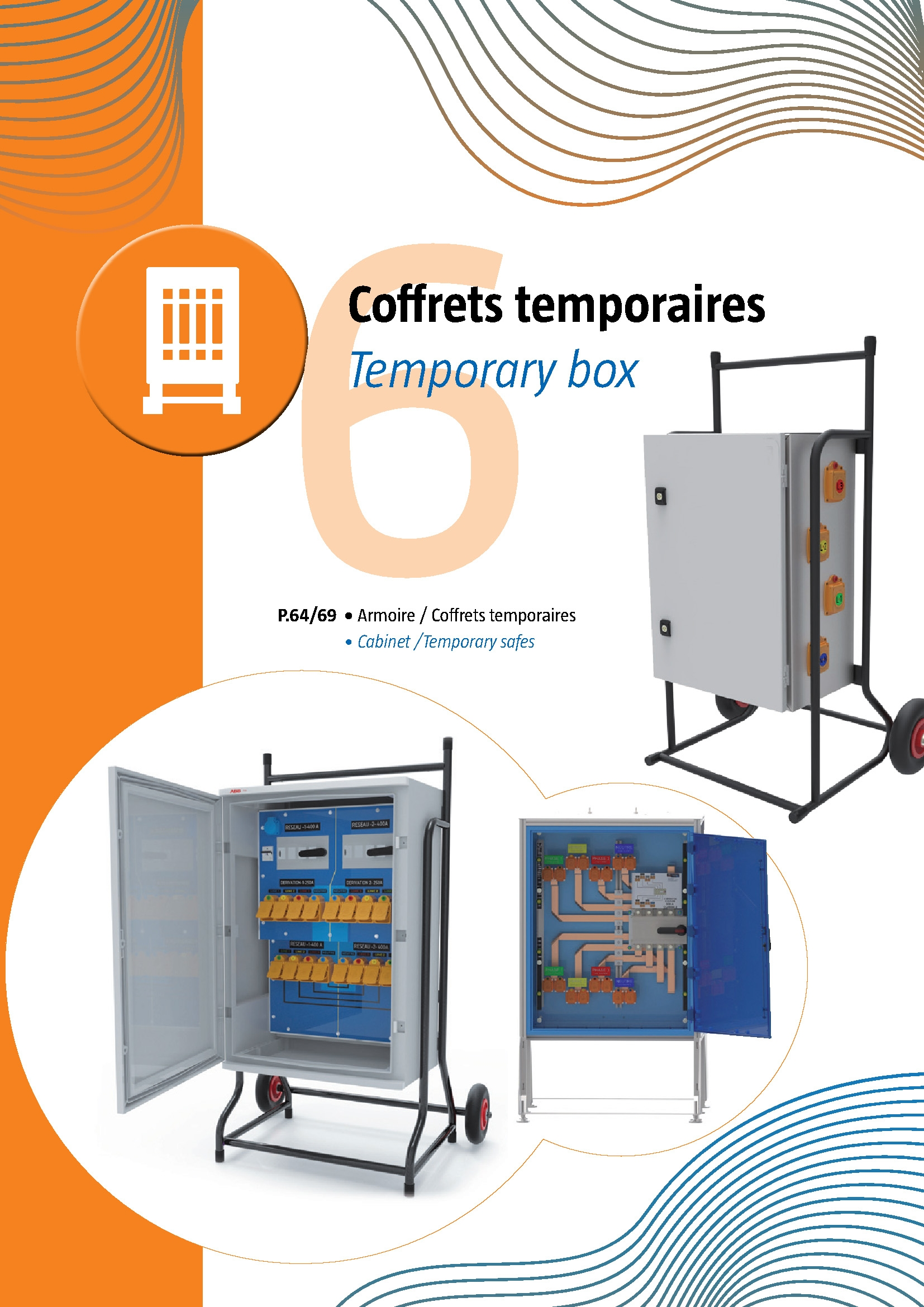 6 Temporary Cabinets