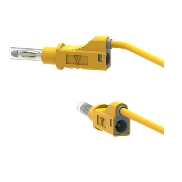 2211/600V-50J 50cm Safety Stackable Test Lead 4mm - Yellow