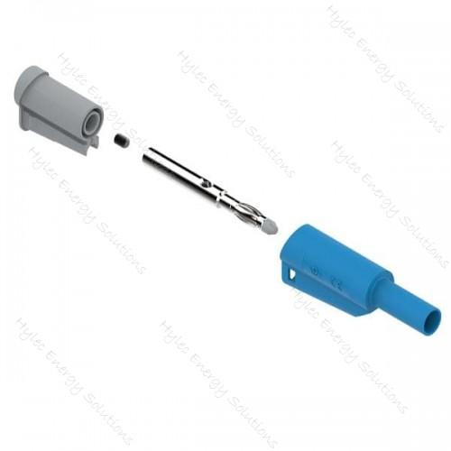 1066-Bl 4mm Safety Banana Plug Blue