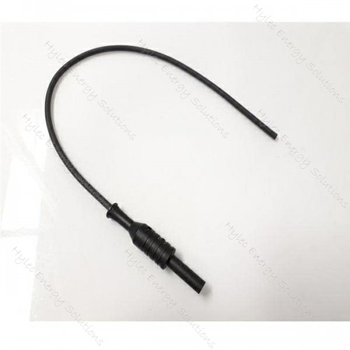 2063X-HCO1-28N 28cm Banana jack to cable section Black