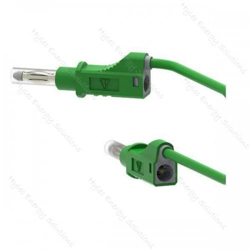 2211/600V-100V 100cm Safety Stackable Test Lead 4mm - Green