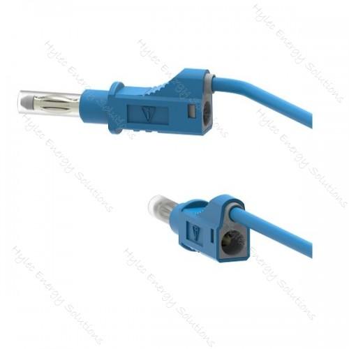 2211/600V-50Bl 50cm Safety Stackable Test Lead 4mm - Blue