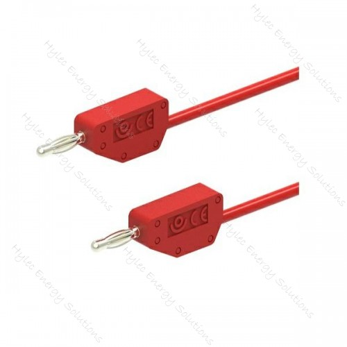 226-25-R 2mm Stackable Banana Plug 25cm Red