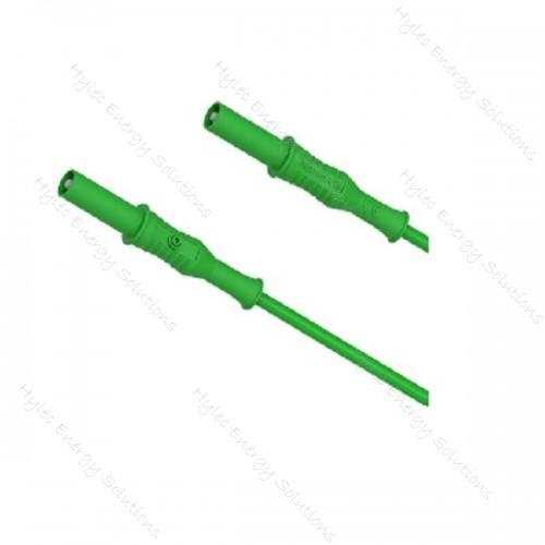 2310-IEC-200V 200cm Banana plug / Banana plug – Green