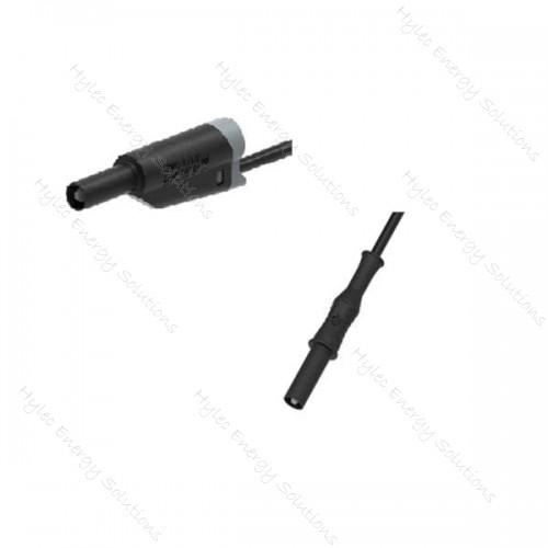 2317/2717-IEC-400N 400cm Banana Plug - Stackable plug Black