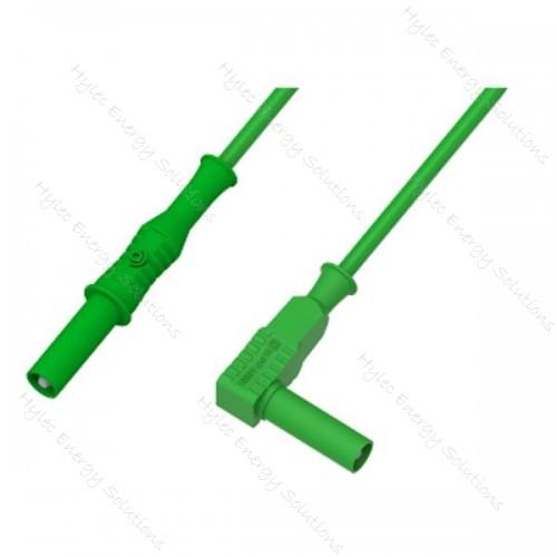 2350-IEC-150V 150cm Banana Plug/Right Angle Plug Green
