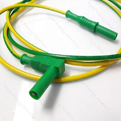 2357-IEC-150Jv 150cm Banana plug/right angle plug - JV