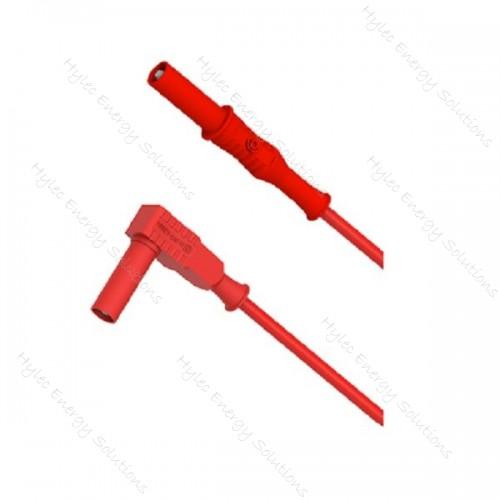 2357-IEC-150R 150cm Banana plug/right angle plug - Red