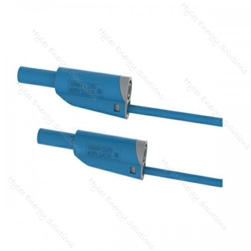2619-IEC-50Bl 50cm Safety Stackable Test Lead 4mm – Blue