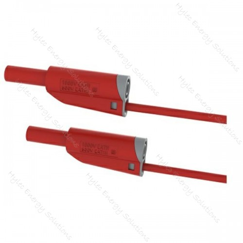 2619-IEC-50R 50cm Safety Stackable Test Lead 4mm – Red