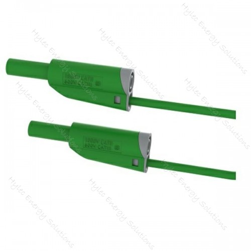 2619-IEC-50V 50cm Safety Stackable Test Lead 4mm – Green