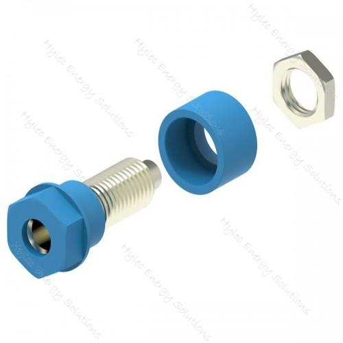 3230-C-Bl Blue 4mm Socket /2mm hole terminal-M6