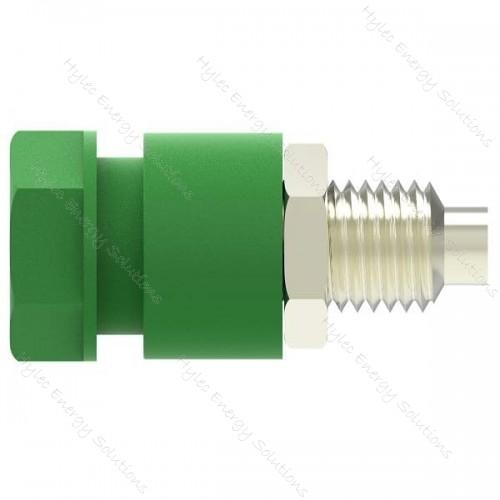 3230-C-V Green 4mm Socket /2mm hole terminal-M6