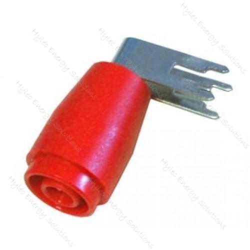 3263-SPCT Red 4mm Right-Angled Banana Socket