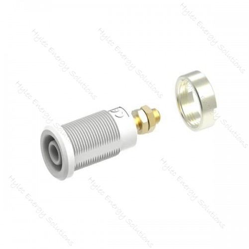 3265-C-Bc White 4mm Banana Socket with Hex Nuts 1