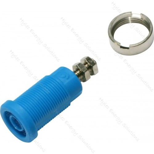 3265-C-Bl Blue 4mm Banana Socket with Hex Nuts