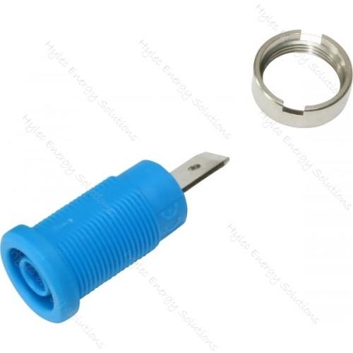 3266-I-Bl Blue 4mm Banana Socket with Flat Tab