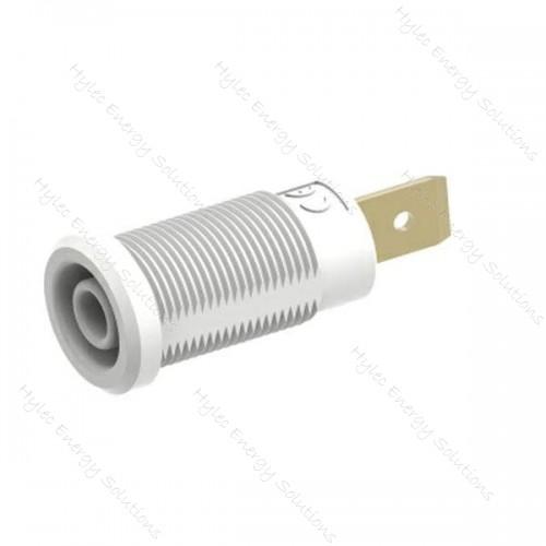 3266-I-ECO-Bc White 4mm Banana Socket with Flat Tab