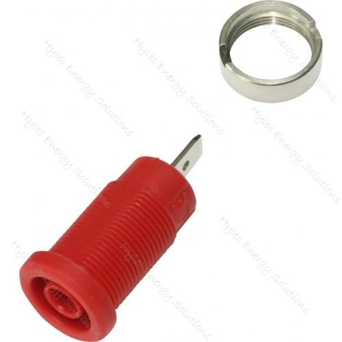 3274-C-R Red 4mm Banana Socket with Flat Tab