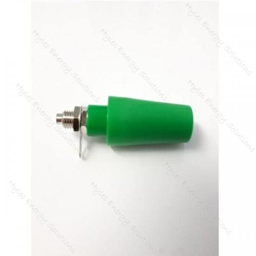 3283-F-V Green 4mm Banana Socket M6 Hex nuts