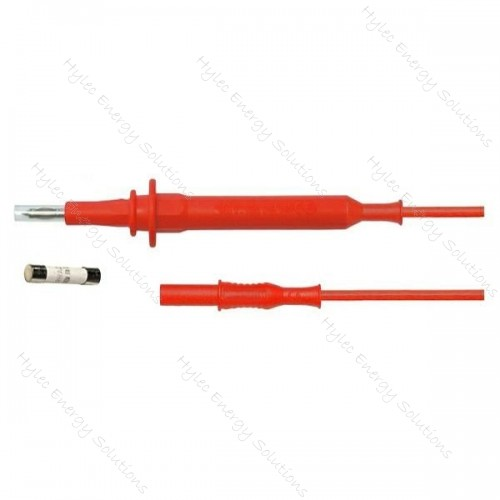 4930-0.5660V 120-R Test probe to straight banana plug Red