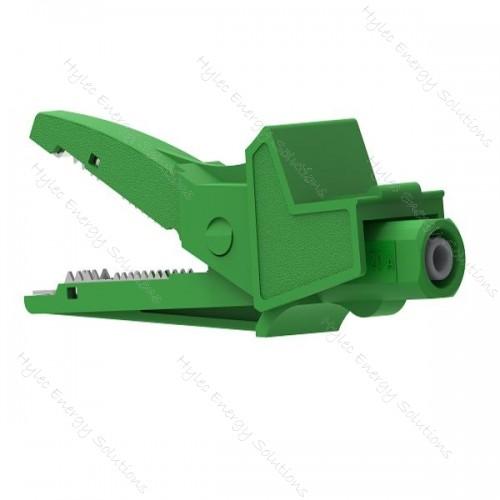 5004/LM-IEC-V Green Safety crocodile clip 20A 1