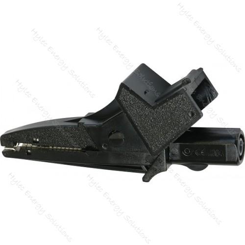 5004/LM-IEC-N Black Safety crocodile clip 20A