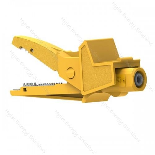 5004/LM-IEC-J Yellow Safety Crocodile Clip 20A