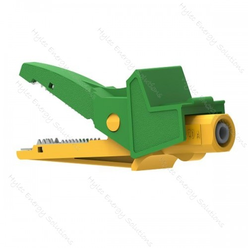 5004/LM-IEC-Jv Yellow/Green Safety Crocodile Clip 20A