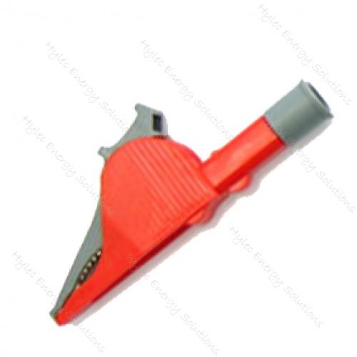 5066-PROB-R Red Safety crocodile clip 36A PROB