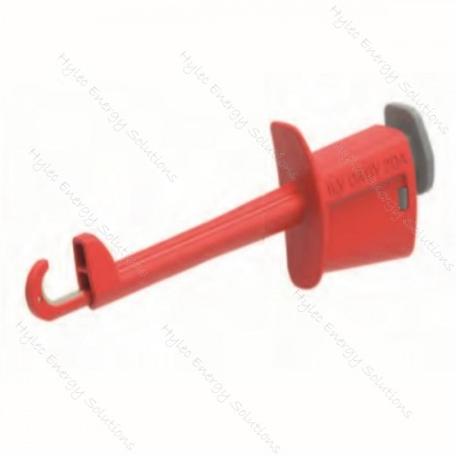 6001-M5-R Rigid test clips with insulated hook Red
