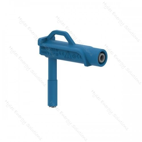 606MG6.6-IEC3IV-BL 6mm right-angle magnetic adapter – Blue