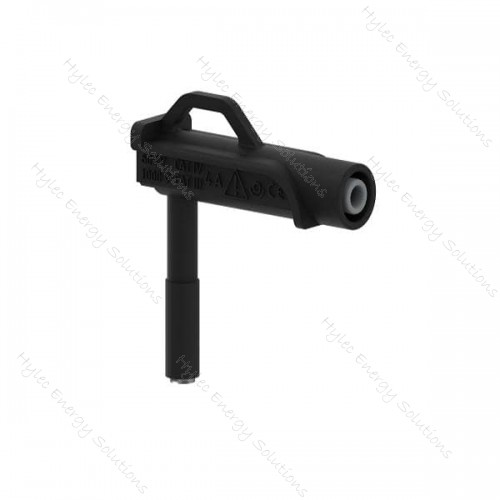 606MG6.6-IEC3IV-N 6mm right-angle magnetic adapter – Black