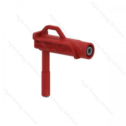 606MG6.6-IEC3IV-R 6mm right-angle magnetic adapter – Red