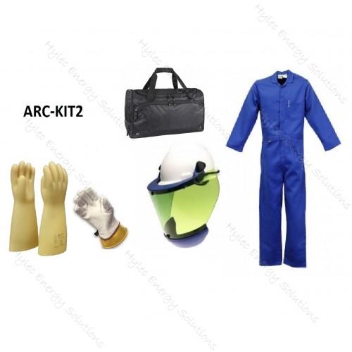 HRC2 Blue Coveralls Arc Flash kit 12 cal
