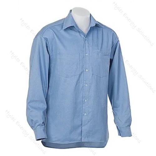 8.9 CAL L/S SHIRT 240GSM MED BLUE