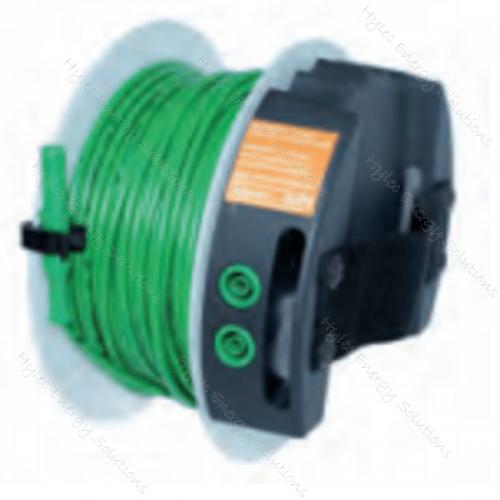 H-Reel2310-50V 50m Portable Reel Banana Cable Green