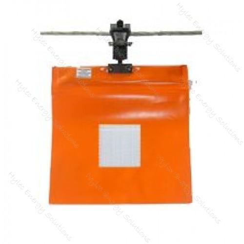O/H Warning Flag 300mm2 Orange10-70mm