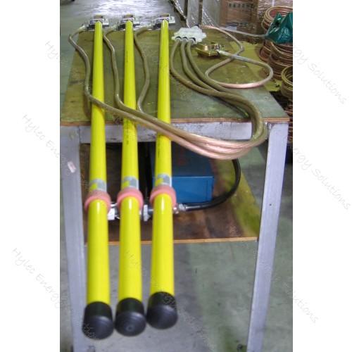 PED 50mm2 P1.5m E15m 1.8m Sticks C/W Bag