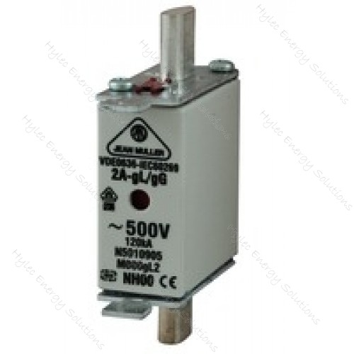 NH000 Fuse Link M000GL 63A 500V 120 kA