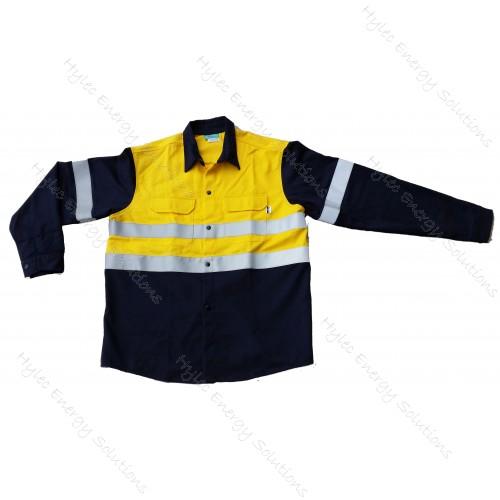 Shirt 211 Yell/Nvy S301 HV L 8.7cal #