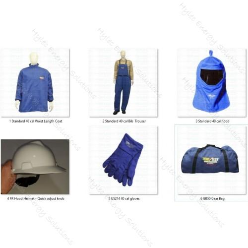 40cal ArcFlash Kit CoatTrouserGlove HRC4