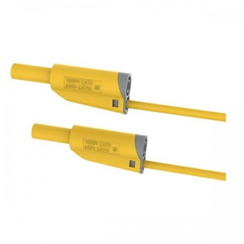 2612-IEC-100J 100cm Safety Stackable Test Lead 4mm - Yellow