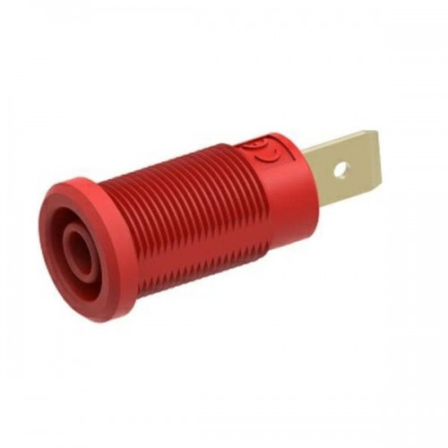 3266-I-ECO-R Red 4mm Banana Socket with Flat Tab
