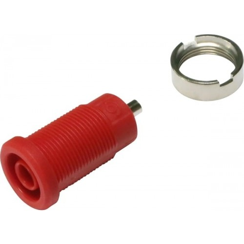 3270-C-R Red 4mm Banana Socket with 2mm soldering hole