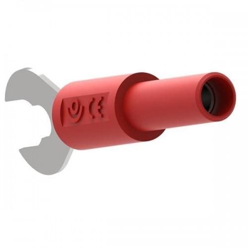 Ada3034-R Adapter Wide Fork 4mm female Red 1