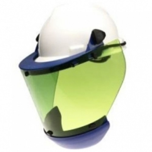12 cal Green Tint Face Shield Univ Band