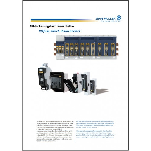CATALOGUE - Jean Muller NH Fuse Switch Disconnectors 2015 Chapter 4